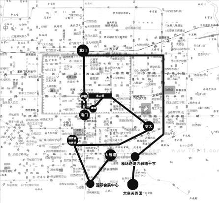 (记者 张勇) 以大雁塔北广场为起点,大唐芙蓉园为终点,整个传递路线约